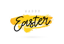 Happy Easter. Gift Card. Lettering