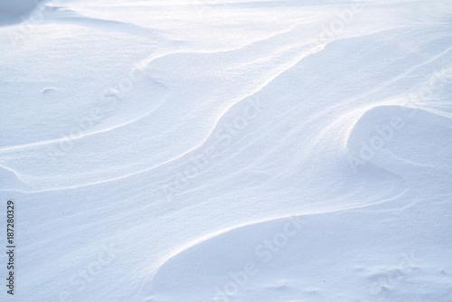 Valokuvatapetti close on drift snow background, winter seasonal scene