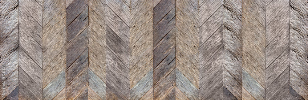 Fototapeta Dark brown rustic diagonal hard wood surface texture background,natural pattern backdrop,banner material for design.