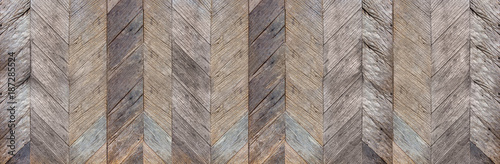 Obraz Dark brown rustic diagonal hard wood surface texture background,natural pattern backdrop,banner material for design. - fototapety do salonu