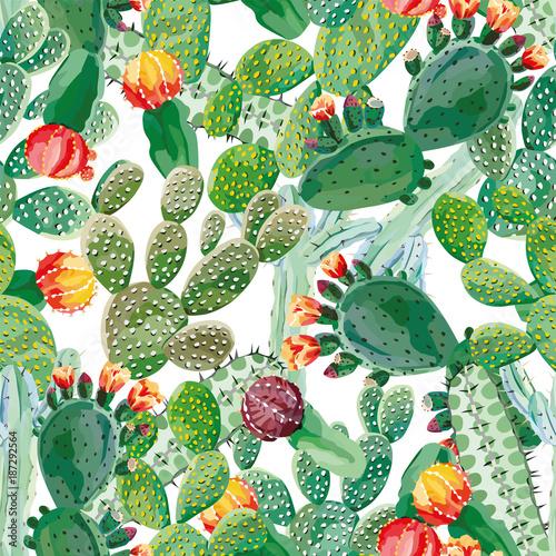 kaktusowy-bezszwowy-deseniowy-bialy-tlo