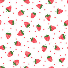 Cute Background With Strawberr...