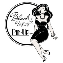 Black And White Pin-up Plus Si...