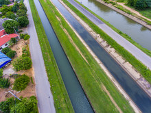 Aerial View Of Irrigation, Cha...