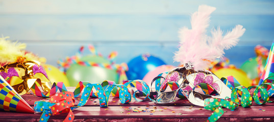 Colourful carnival panoramic banner