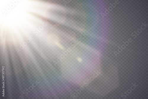 Vector transparent sunlight special lens flare Canvas
