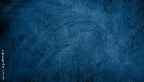 Fényképezés  Abstract Grunge Decorative Navy Blue Dark Background
