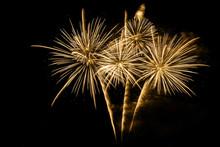 Golden Firework On Black