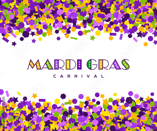 carnival mardi gras confetti greeting card Wall mural