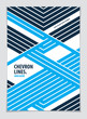 Minimalistic brochure design. Vector geometric pattern abstract background. Design template for flyer, booklet, greeting card, invitation and advertising. A4 print format.