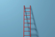 Step Ladder Against A Wall. Gr...
