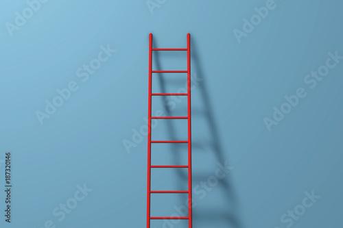 Obraz na plátně Step ladder against a wall