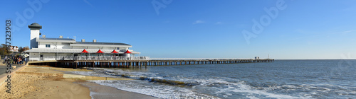 Panorama of the pier at Felixstowe Suffolk England. Canvas Print