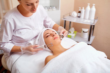 Woman On Facial Skincare Proce...