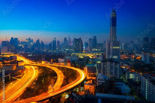 Bangkok cityscape at morning Canvas Print