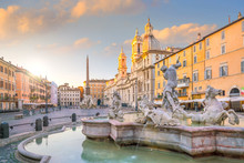 Fountain Of Neptune On Piazza Navona, Rome, Italy