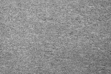 Close Up Of Monochrome Grey Carpet Texture Background From Above