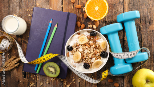 fitness breakfast plan Fototapeta