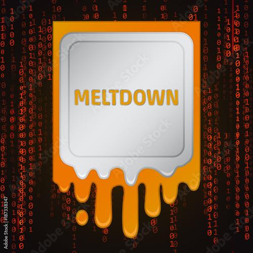 Meltdown vulnerability concept on a binary code background Wallpaper Mural