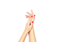 Beautiful Female Hands With Re...
