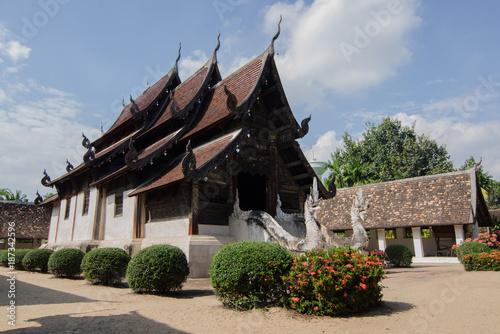 In de dag Bedehuis old church in the north Thailand