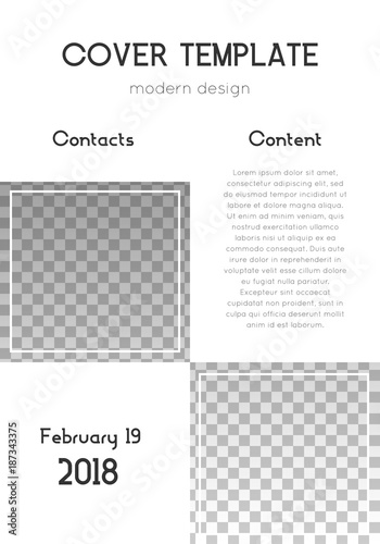cover page layout