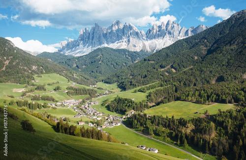 Fotografie, Tablou  Picturesque Village in Dolomites (Val di Funes)