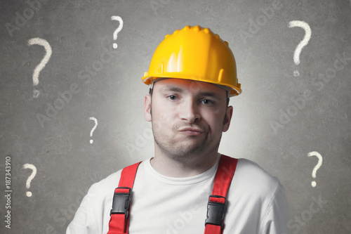 Confused young worker