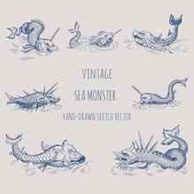 Mythological Vintage Sea Monst...