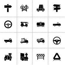 Traffic Icons. Vector Collection Filled Traffic Icons