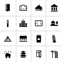 Architecture Icons. Vector Col...