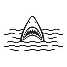 Shark Icon Vector Logo Mouth O...