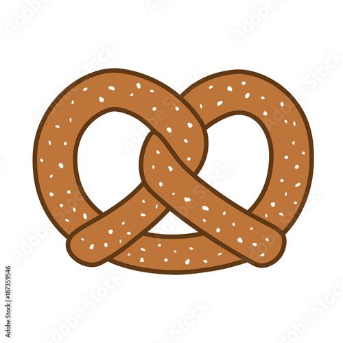 pretzel icon logo vector illustration cartoon Wallpaper Mural