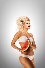 Bikini And Watermelon / Beauti...