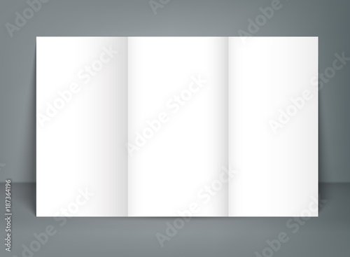 blank tri fold brochure mock up portrait cover isolated buy this