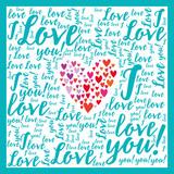 Miłość. Kartka walentynkowa. Kocham Cię.