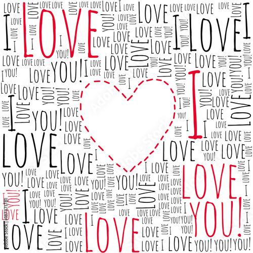 Fotografia  Love. Valentine's card. I love you.