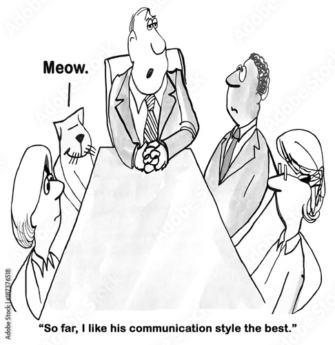 Business Cartoon About Communication Style Buy This Stock Illustration And Explore Similar Illustrations At Adobe Stock Adobe Stock