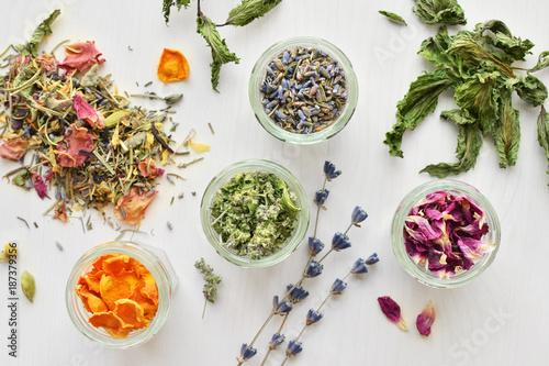 Photographie herbal tea ingredients