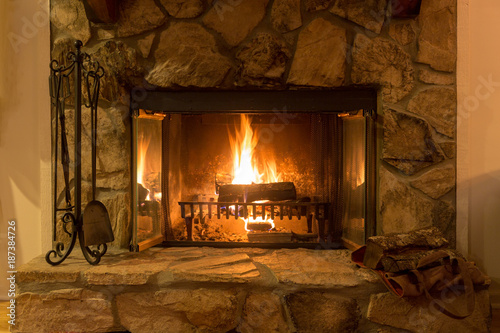 Intimate by fireplace