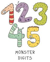 Fototapeta Do przedszkola monster digits