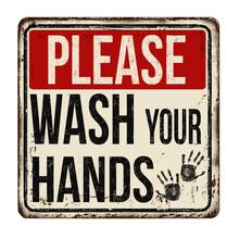 Please Wash Your Hands Vintage...