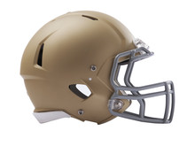 Modern American Football Helmet Isolated On White