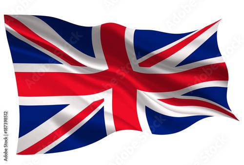 Obraz na plátně イギリス  国旗 旗 アイコン