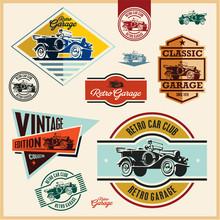 Vintage Labels, Vintage Car Ga...