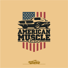 American Muscle Cars Label, Ve...