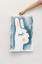Hand Holding A Rabbit Picture