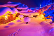 China's Snow Town night landscape.