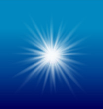 Burst Of Sun Light Vector