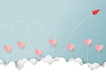 Paper Art Style Of Valentine's...